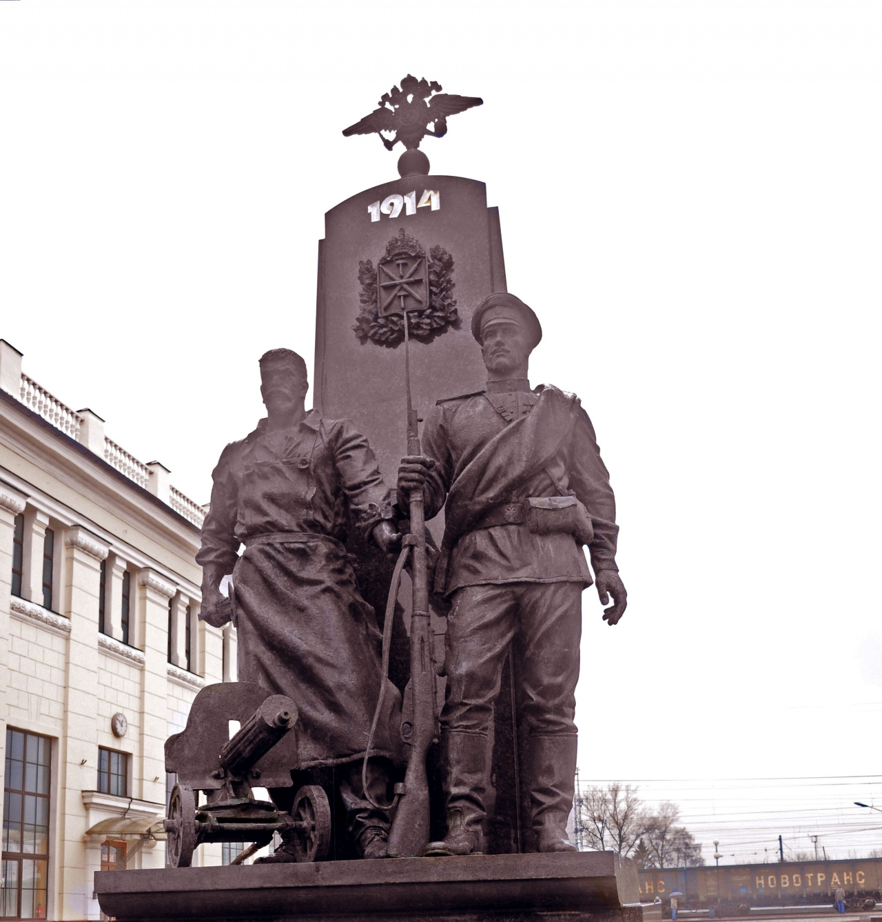 In places of military photographs. Tula 80